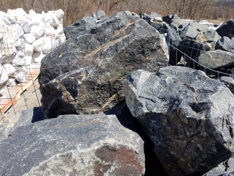 Western Black Granite (2 Man Boulders)